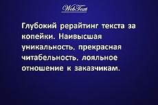 Рерайт любого текста 20 - kwork.ru