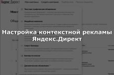 Настройка контекстной рекламы Яндекс Директ поиск+рся 18 - kwork.ru