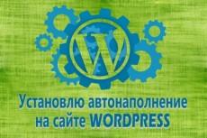 Установлю с нуля сайт на wordpress и настрою основные плагины 3 - kwork.ru