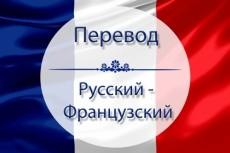Перевод с русского на французский и обратно 3 - kwork.ru
