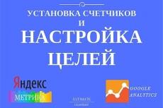Установка аналитики Яндекс.Метрика и Google Analytics на Ваш сайт 20 - kwork.ru