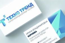 Разработаю дизайн визитной карточки 16 - kwork.ru