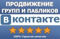 Раскрутка и продвижение групп, пабликов Вконтакте - 10 дней 4 - kwork.ru
