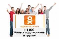 1000 подписчиков в одноклассники + активность, классы к постам 4 - kwork.ru