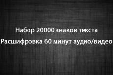 Транскрибация, расшифровка аудио и видео в текст, набор текста 19 - kwork.ru