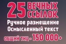 30 ссылок на ваш сайт с ТИЦ от 1600. Общий тИЦ - 97 315 6 - kwork.ru