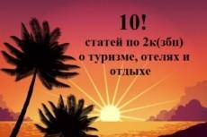 Статьи про путешествия, культуру и развлечения 11 - kwork.ru