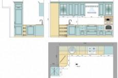 Планировка квартиры с расстановкой мебели 41 - kwork.ru