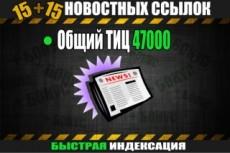 30 жирных вечных ссылок траст 100 общий ТИЦ 530 000, V 2. 0 18 - kwork.ru