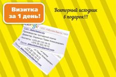 Создам индивидуальный дизайн визитки 43 - kwork.ru