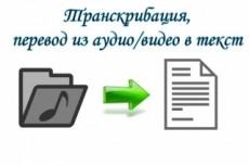 Расшифровка аудио видеозаписей, опыт работы 2 года, конфиденциально 19 - kwork.ru