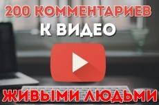 135 комментариев к видео YouTube 23 - kwork.ru