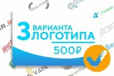 2 оригинальных логотипа + подарки 46 - kwork.ru