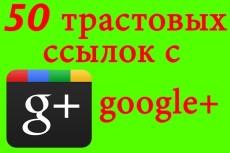 75 трастовых ссылок + поведенческие факторы в google+ 3 - kwork.ru