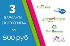 Логотип - красивый,стильный,интересный (3 варианта) 14 - kwork.ru