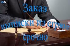 Срочная выписка из егрюл, егрип с ЭЦП 20 - kwork.ru