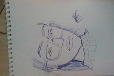 Карандашный рисунок ручкой, Перерисовка с изображения на лист 10 - kwork.ru