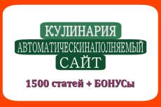 Готовый автонаполняемый сайт кулинария с бонусом уже в продаже 8 - kwork.ru