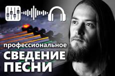 Сведение аудио трека, аудио материала 17 - kwork.ru