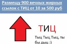 12 вечных жирных ссылок с общим ТИЦ 200000 19 - kwork.ru