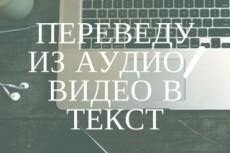Расшифровка аудио/видео записей 27 - kwork.ru