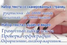 Расшифровка видео в текст, набор текста 20 - kwork.ru