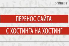 Перенос сайтов между хостингами и доменами 20 - kwork.ru