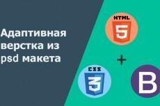 Адаптивная вёрстка PSD макета 8 - kwork.ru