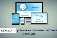 Установка шаблона OpenCart 10 - kwork.ru