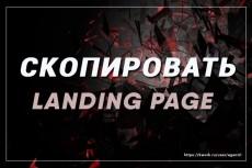 Скопирую landing page с виджетами или сделаю копию многостраничного 24 - kwork.ru