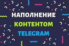 Постинг контента в Telegram 3 - kwork.ru