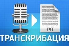 Переведу аудио, видео, фото в текст 23 - kwork.ru