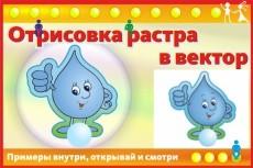 отрисовка изображения в вектор 8 - kwork.ru