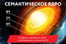 Семантическое ядро до 700 ключей, + расчет конкурентности в выдаче KEY 14 - kwork.ru