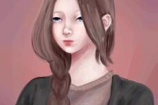 Рисую аниме 9 - kwork.ru