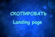 Скопирую landing page с виджетами или сделаю копию многостраничного 19 - kwork.ru