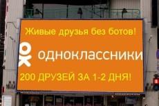 1000 друзей на профиль в Одноклассники. Без ботов и программ 2 - kwork.ru
