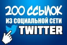 450 ссылок в твиттере 22 - kwork.ru