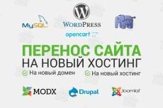 Перенесу сайт на Wordpress, Joomla, Modx на другой хостинг или домен 5 - kwork.ru
