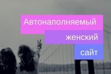 Женский сайт + 1200 новостей, автообновление + бонус 24 - kwork.ru