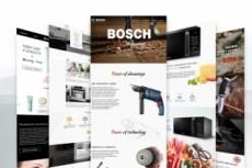 Дизайн главной страницы с мощным оффером в PSD 28 - kwork.ru