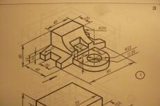 Выполню чертежи в программе Auto Cad и Kоmpas 3d 45 - kwork.ru