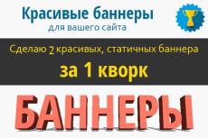 3 качественных баннера для вашего сайта 14 - kwork.ru