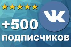 555 подписчиков на паблик, группу Вконтакте 5 - kwork.ru