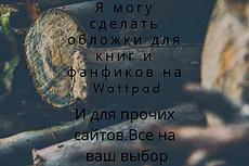 Дизайн обложки для книги, блокнота 17 - kwork.ru