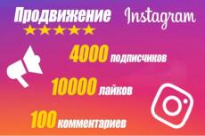Продвижение Instagram в течение недели. Подписчики и лайки 6 - kwork.ru