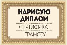 Нарисую диплом, сертификат, грамоту 13 - kwork.ru