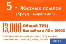 Продвижение сайта, Естественные ссылки на сайт, тиц, як, дмоз 4 - kwork.ru