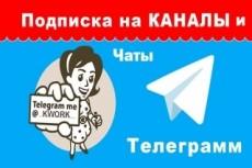 1000 подписчиков на канал, на бота, в чат Телеграм 10 - kwork.ru