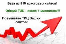 Свежая база трастовых сайтов 150 шт 13 - kwork.ru